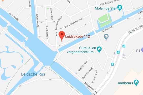 Afbeelding van Google Maps met het adres van de praktijk.
